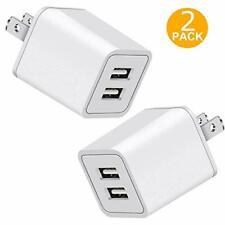 USB Charger 5V Dual 2Port 2.4 Amp Wall Charger USB Plug Charger Wall Plug Power