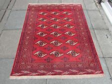 Vintage Worn Hand Made Traditional Oriental Wool Red Rug 166x130cm