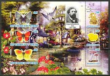 Chad 2010 Butterflies & Mushrooms VIII Birds Duck Flowers Sh of 6 MNH** Privat !