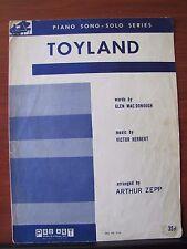 Toyland - 1941 sheet music - Piano Solo - Beginner