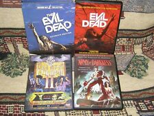 New listing Evil Dead 3 Disc Ultimate Edition, Part Ii, Army Of Darkness & Remake Dvd Lot