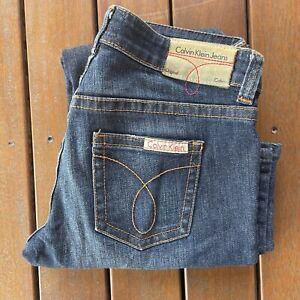 Calvin Klein Jeans Original Size 28 * 34 Blue Denim Straight Leg Womens Casual