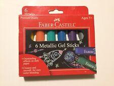Faber-Castell Watercolor GEL STICKS 6-COLOR METALLIC SET - ages 5+
