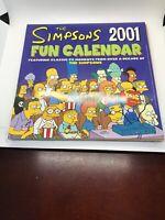 Vintage 2001 THE SIMPSONS Fun Calendar Bongo Comics