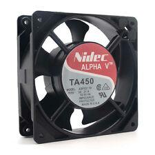 Nidec Alpha V: TA450 Fan, Model: A30122-10. P/N: 930402. 115AC 12038 case fan