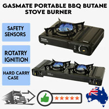 Gasmate Portable BBQ Butane Stove Burner Camping Hiking Outdoor Cooking