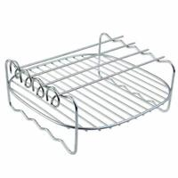 Air fryer Rack Fits all 3.7QT 5.8QT Multi-purpose Double Layer Rack with Ske n1y