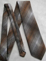 Vintage SAMMY Tie Mens Necktie Retro Fashion TEXTURED BROWN