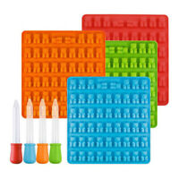 50 Cavity Silicone Mold Bear Gummy Chocolate Candy Maker Jelly Dropper Ice Tray