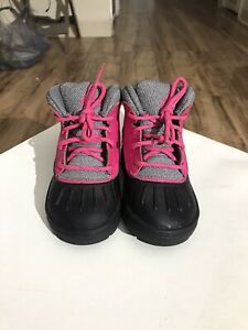 Nike Woodside 2 Winter Boots Toddlers Pink Black Grey 524878-600 7c Girls