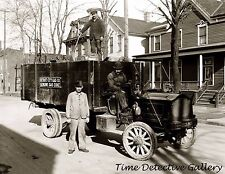 Coal Coke Delivery Truck, Detroit Gas Co., Michigan -1915 - Historic Photo Print