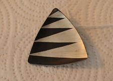 Vint Jorgen Jensen Modernist Pin Pewter Black Enamel Signed 790 Denmark Handmade