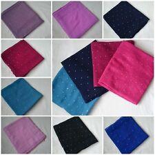 Diamonte Scarf Scarves Headscarf Glitter Dimond Sticker Maxi Hijab Shawl Wrap