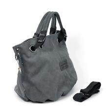 DrachenLeder BEUTELTASCHE Canvas grau Damen Shopper Handtasche OTJ213K