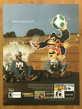 Mario Kart: Double Dash Gamecube 2003 Vintage Print Ad/Poster Official Promo Art