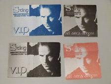 STING Mercury Falling World Tour 1996 - Satin/Cloth VIP Backstage Pass (x4)