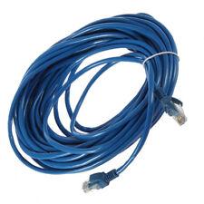 50FT RJ45 CAT5 CAT5E Ethernet Network Lan Router Patch Cable Cord Blue 15M XP