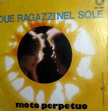 """MOTO PERPETUO HEAVENLY  7"""" PS ITALY 1976 POP- PROG-ROCK DUE RAGAZZI NEL SOLE"""