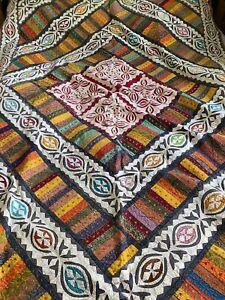 Large Ethnic Throw / Bedspread 150cm X 220cm