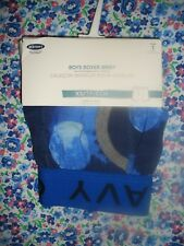 OLD NAVY BOYS BOXER BRIEFS-1 PAIR BLUE WITH MOON'S -X-SMALL(5-6)NEW