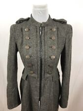 Zara Military Wool Blend Womens Size M 8 10 Coat Jacket Fitted Tailored VGC
