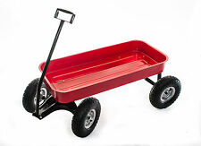 Classic Red Pull Cart Trolley Barrow ideal for the Garden and Great Fun for Kids