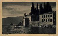 San Vigilio alte s/w AK 1923 Lago di Garda Garda See Blick auf das Hotel am Ufer