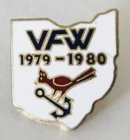 Veterans Of Foriegn Wars 1980 Bird Anchor Pin Badge Military Vintage (G7)