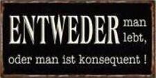 10x5cm Entweder Man Lebt Vintage Retro Style Magnet Fun #74891