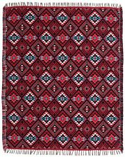 "#5000Reversible Soft Throw Blanket Native American SW 50""x64"" Timeless Treasure"