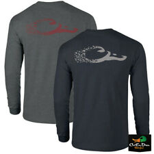 NEW DRAKE WATERFOWL DUCK HEAD LOGO T-SHIRT - LONG SLEEVE S/S TEE SHIRT -