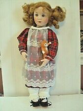 """Doll With Kitty Cat by Brigitte Duval """" Megan"""" 1989 Great Condition"""