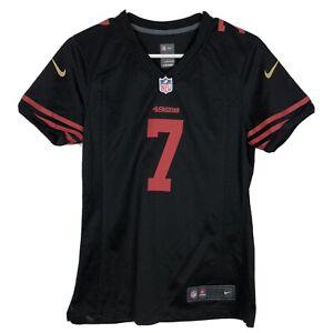 Nike Womens Colin Kaepernick NFL On Field Jersey 49ers San Francisco Sz S Black