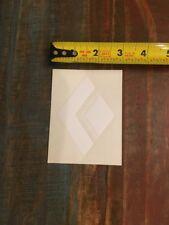 "Black Diamond White Logo Sticker/Decal Vinyl Climbing Approx 3"" x 4"" Authentic!"