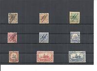 Deutsch-Neuguinea 1897 - 1901, Einzelmarken aus MiNrn: 1 - 19 o, gestempelt o