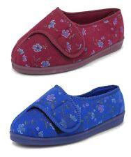 Womens EEEE Super Wide Fit Comfort Slippers Comfylux Orthopaedic Size 3-9