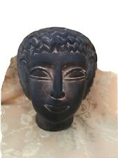 "New listing Luxor Egyptian Bust Statue Black Stone Matte Finish 4 1/2"""