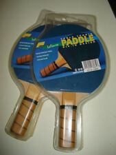 2 NEW Pro-Sport Leisure Table Tennis Racket Ping Pong Paddle Pip-In Design