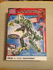Mega Bloks Spiderman Lizard Techbot 44-Piece Set #91332 -  NIB