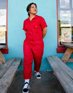Dickies Women's Short Sleeve Coverall Flex Jumpsuit Temp-iQ Red Size 2XL NWT