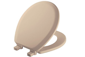 MAYFAIR 41EC 078 Cameron Toilet Seat will Never Loosen and Easily Remove, ROUND,