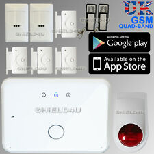 WIRELESS GSM SMS Autodial HOME CASA UFFICIO SICUREZZA ANTIFURTO INTRUDER ALARM + app