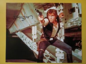HARRISON FORD Hand Signed 10 X 8 Photo Autograph Star Wars Actor Han Solo