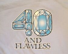 """""""40 And Flawless"""" 1980s vintage t-shirt tee blue Best Size: Xl Euc"""