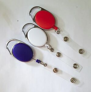 High Quality Retractable Extendable Key Chain Belt Recoil Key-Ring Various Color