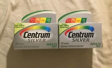 2 Centrum Silver Multivitamin Adults 50+ 125 Tablets Each EXP 04/2020 06/2020