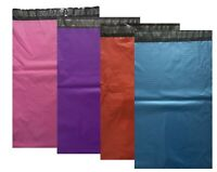 100 Mailing Bags Strong GREY BLUE PINK RED PURPLE Postal Self Seal 6X9""