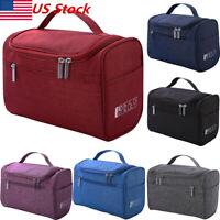 US New Womens Large Cosmetic Case Makeup Bag Storage Handle Organizer Travel Kit
