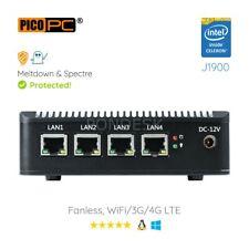 Intel J1900 4 LAN HD Dual Display 4G Fanless Firewall Router Pfsense Barebone
