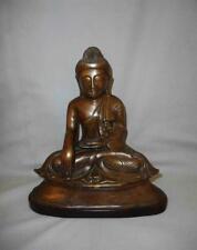 Antique Burma TOP QUALITY LARGER BRONZE BUDDHA SHAKYAMUNI SHRINE FIGURE